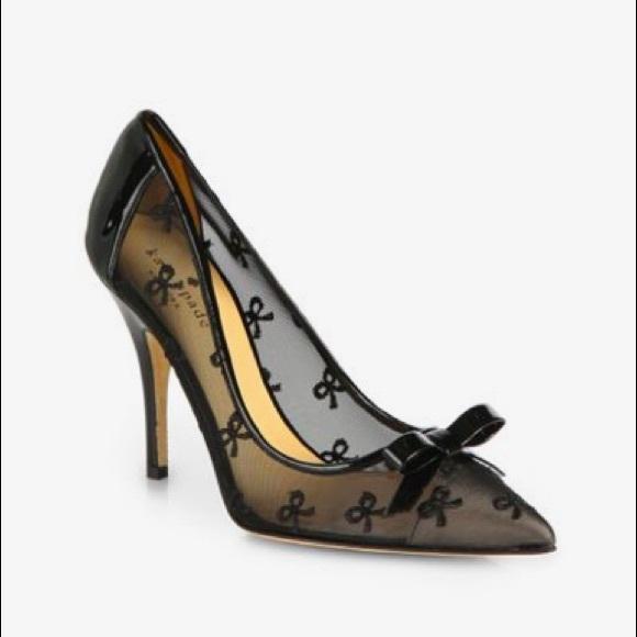 e80e584f0108 kate spade Shoes - Kate Spade New York - Lisa black bow mesh pump